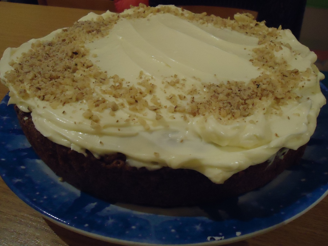 Super Moist, Totally Delicious Walnut-ty Carrot Cake with Cream Cheese Frosting