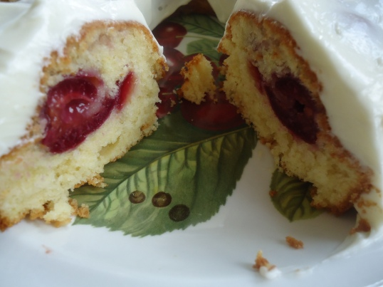 Kerasopita (Cherry Cake) with Cream Cheese Frosting