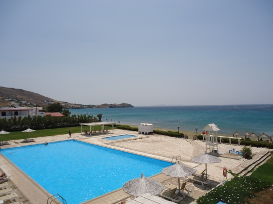 Our fancy schmazy resort - Tinos Beach Resort
